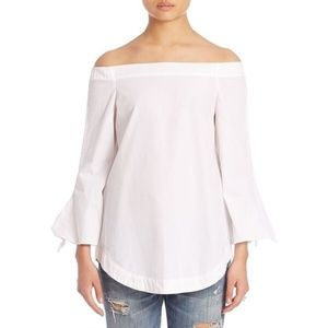 Free People White Off The Shoulder Top